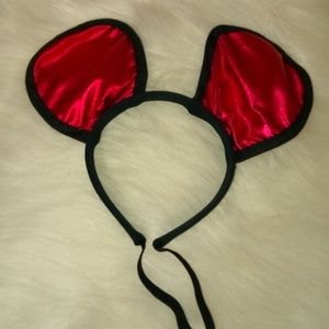 Black Red Gleaming Mouse Ears